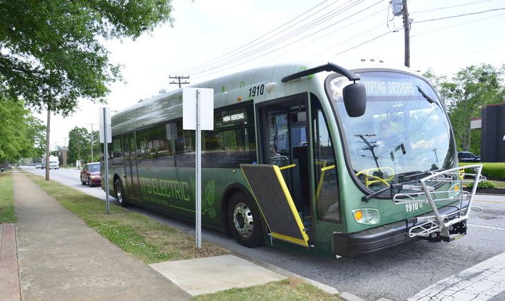 Greenlink bus at a stop